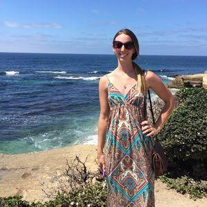 Beautiful paisley boho print maxi dress